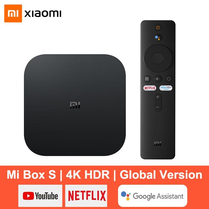Xiaomi Mi Box S Smart TV Box Android 9.0 4K Ultra HD HDR 2G 8G WiFi Google Cast Netflix Media Player Smart Control Set Top Box